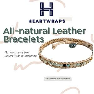 Tranquility Double Wrap Leather Bracelet